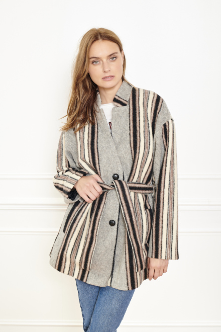 MELINE - Coat - GREY
