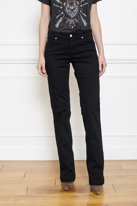 Jeans - THE JANIS POWER STRETCH  - BLACK ENZYME WASH