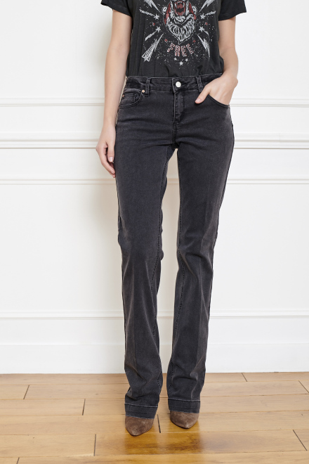 THE JANIS POWER STRETCH - Pants - BLACK-GARBAGE WASH