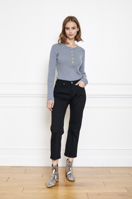 Pantalon - THE SOPHIA - BLACK ENZYME WASH