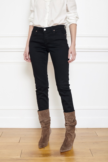 Jeans - THE OSLO POWER STRETCH - BLACK ENZYME WASH